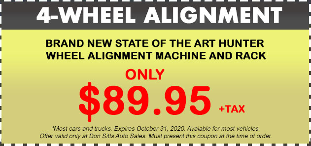 4 Wheel Alignment Coupon